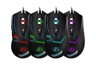 IMICE-X8: LED Light 1600DPI Usb Optical Gaming Mouse