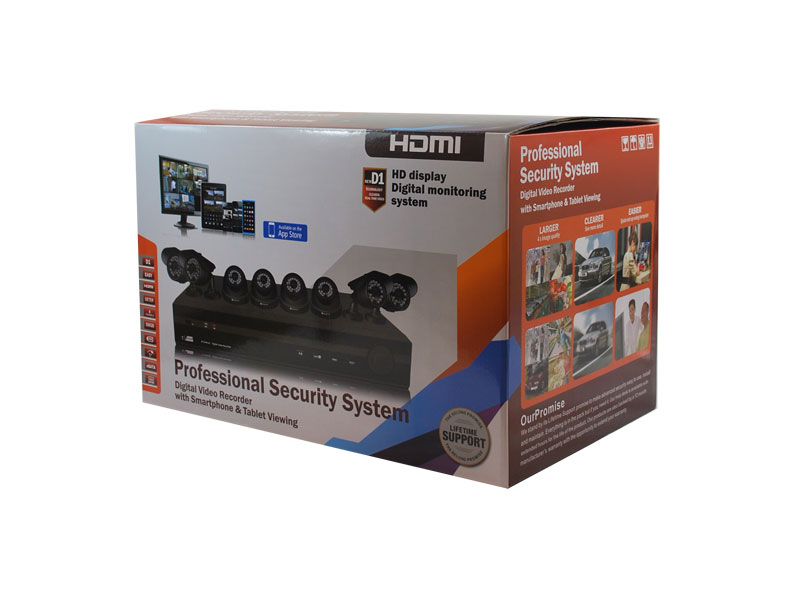 8021CS: ReLong 8 Ch Analog Camera Surveillance Kit