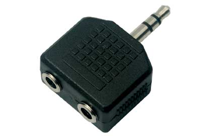 A-35235MF: 3.5mm stereo male to 2 x 3.5mm stereo female adapter