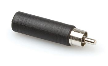 A-3525MF: RCA male to 1/4 inch mono female adapter