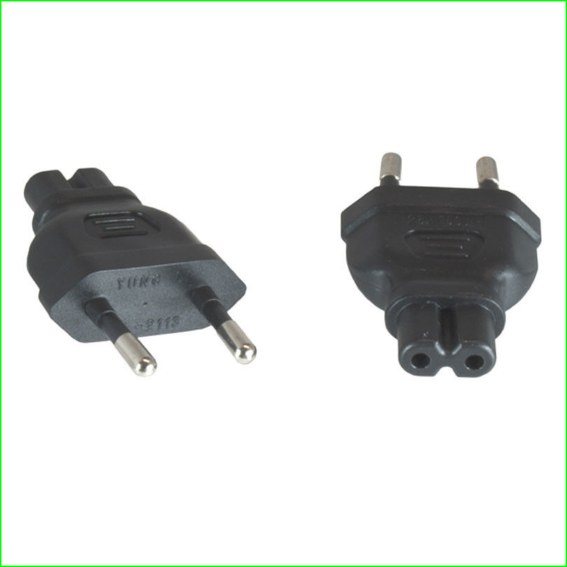 A-77C7MF: Schuko CEE 7/7 (Euro) male to C7 Female power adapter