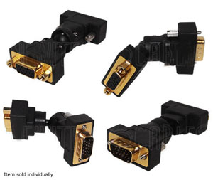 A-VGA-MF360: VGA male to female adapter - 360 degree swivel