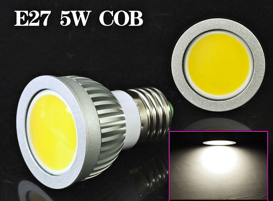 HF-LED-SL-5WE27: Spot Light Bulb LED 5W E27 or GU10
