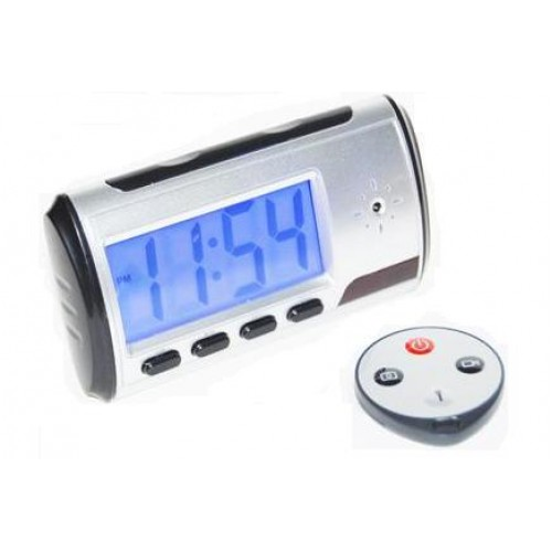 HF-SEC-DVR-CLOCK: SPY Gadget Multi-Function DVR Alarm Clock with Remote & Web Cam