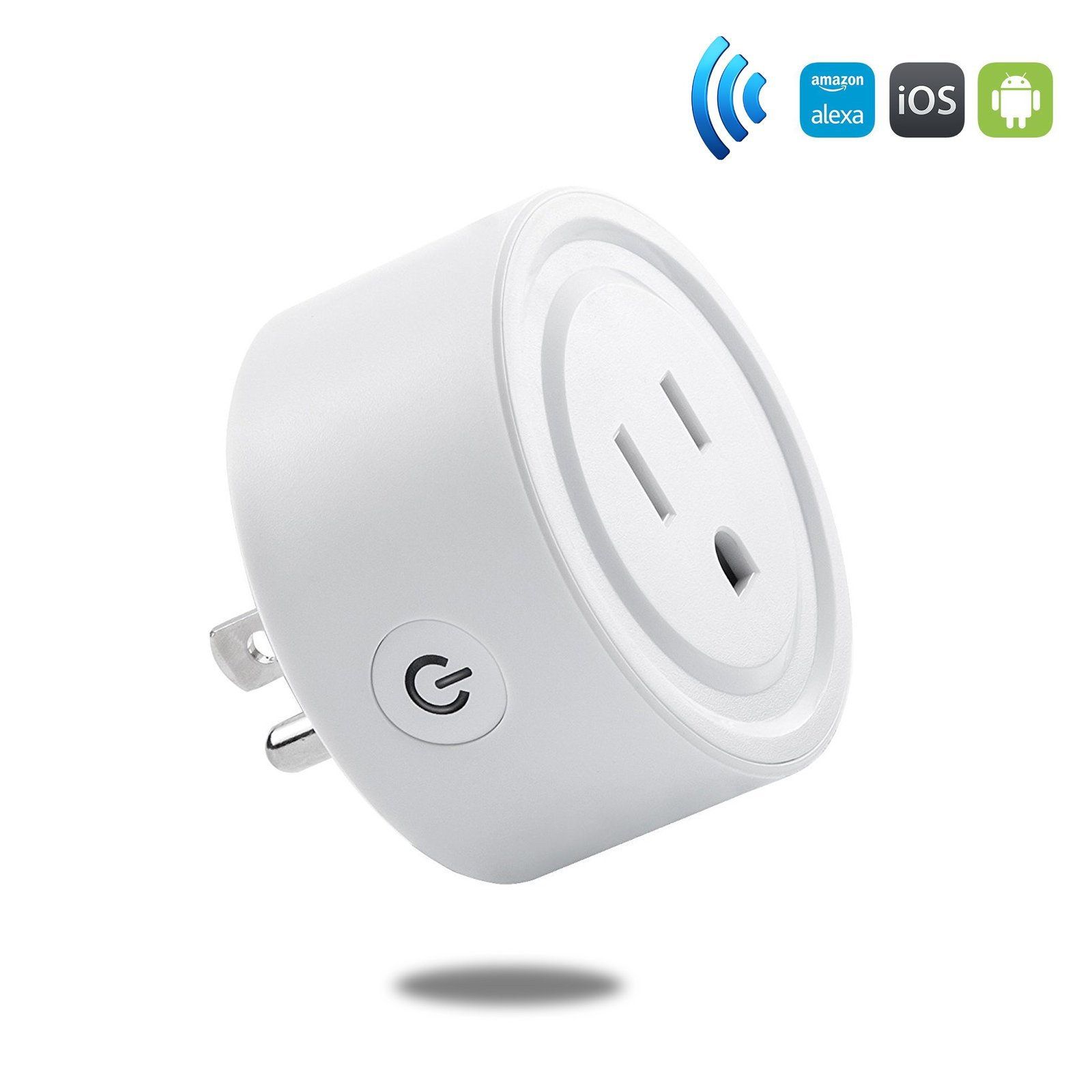 HF-SP1: Wi-Fi Enabled Mini Smart Power Plug/Socket Wireless Outlet Works with Amazon Alexa & Google Home(mini), No Hub Required,