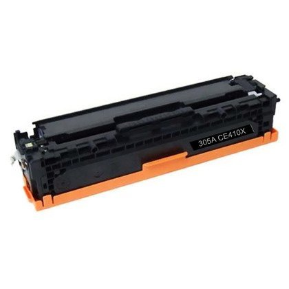 HP CE410X: Black Toner Cartridge CE410X BK (305A) Compatible Remanufactured for HP CE410X Black