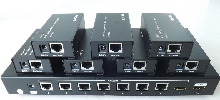 HSE-108: HDMI 8-port Extender Over One Cat6 UTP Cable