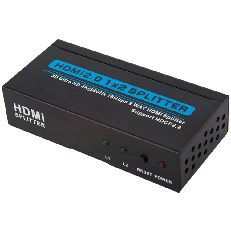 HSP102-4K60: HDMI 2.0 2 potr splitter with 4K@60hz, USB powered