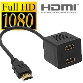 HSS2: HDMI Male To 2 HDMI Female 2 port Splitter
