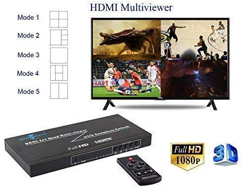HW-401-MV: 3D 1080P HDMI 4x1 Multi-Viewer Witch Support Seamless Switch and PIP