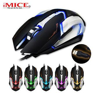 iMICE-V6: 5 Colors LED Light 2400DPI Usb Optical Gaming Mouse