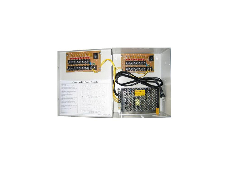 Sec-PW-Box-18Ports18A: Power distributor-18 port fused