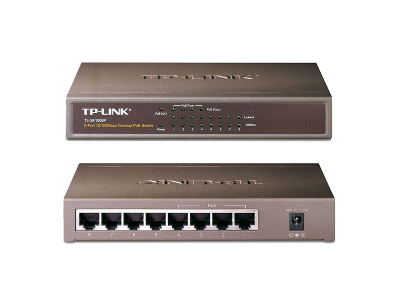 TL-SF1008P: 8-Port 10/100Mbps Desktop Switch with 4-Port PoE