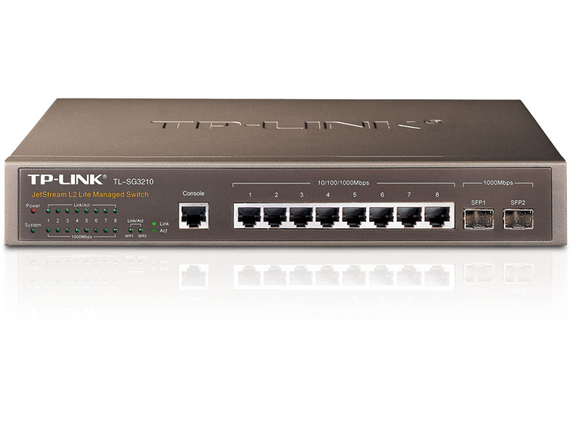 TL-SG3210: JetStream™ 8-Port Gigabit L2 Managed Switch with 2 SFP Slots