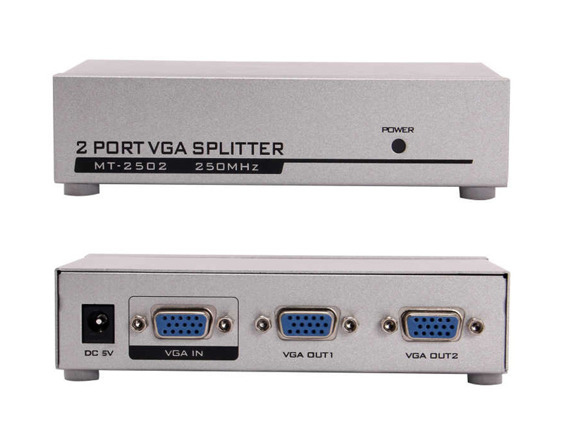 VGA-102A: 1 to 2 Port VGA Video splitter 550mHZ