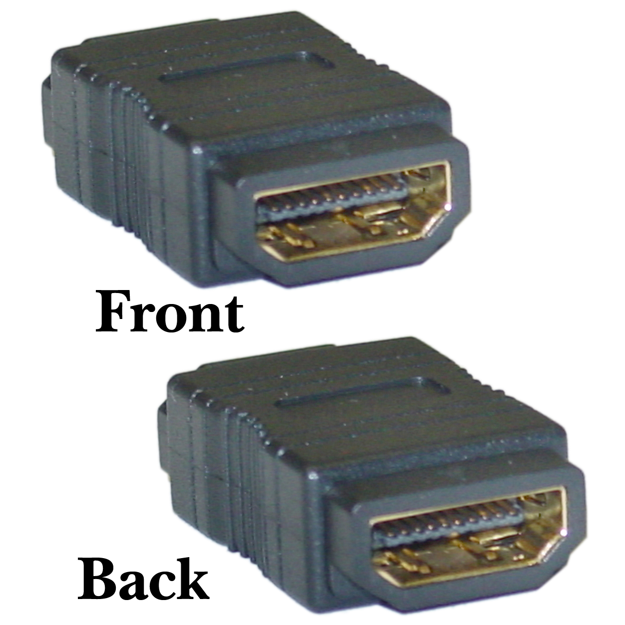 H180-1: HDMI to HDMI straight coupler, F/F