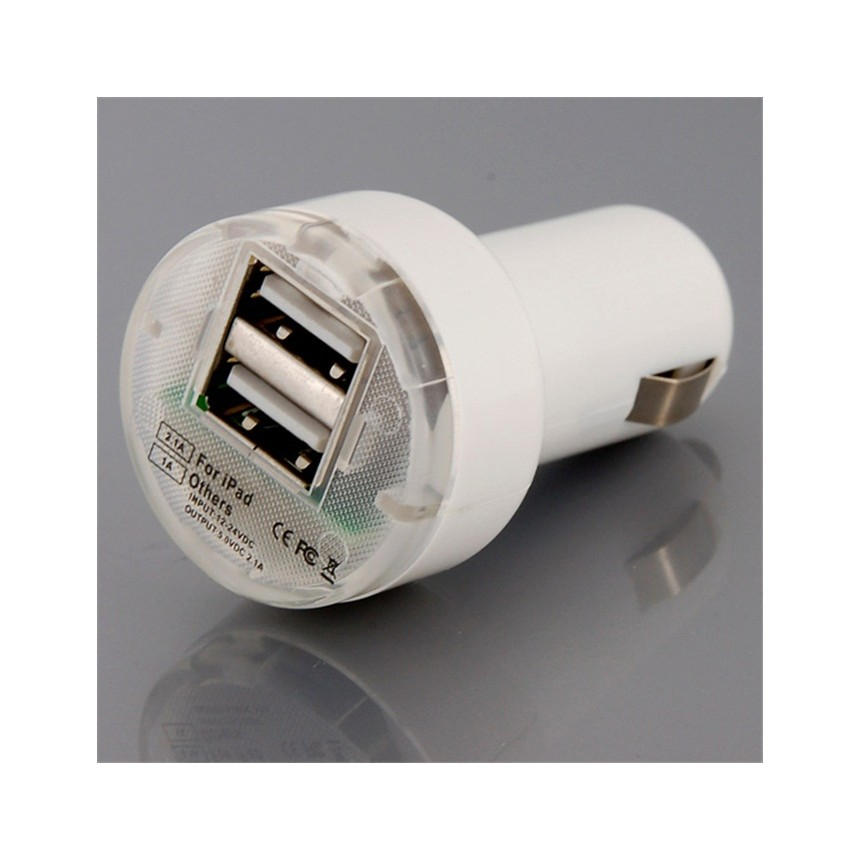 iPad-CarD: 5V 1.0A + 5V 2A Car Dual USB Cigarette charger for iPad and others