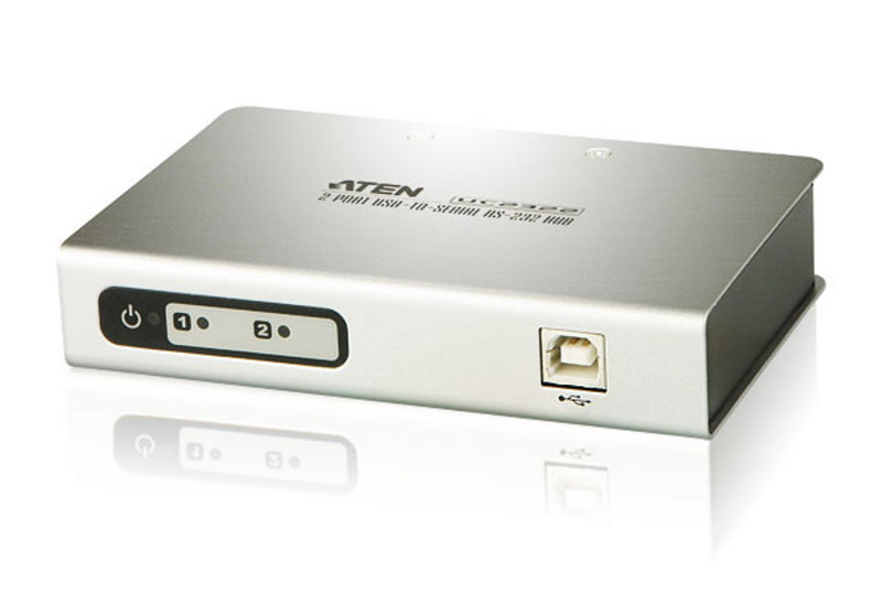 ATE UC2322: USB to RS232 Adapter Converter 2-port HUB